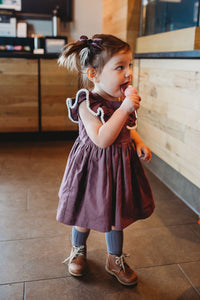 little kids purple dress