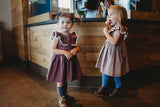 purple vintage dress little girls