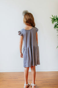 girls gray jersey dress