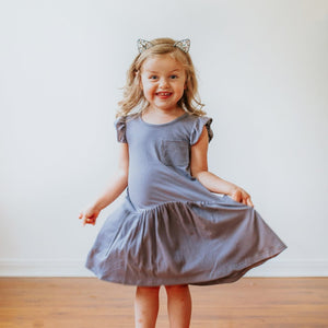 little girls gray dress