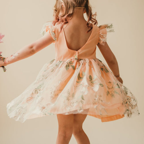 little girls boho flower girl dress