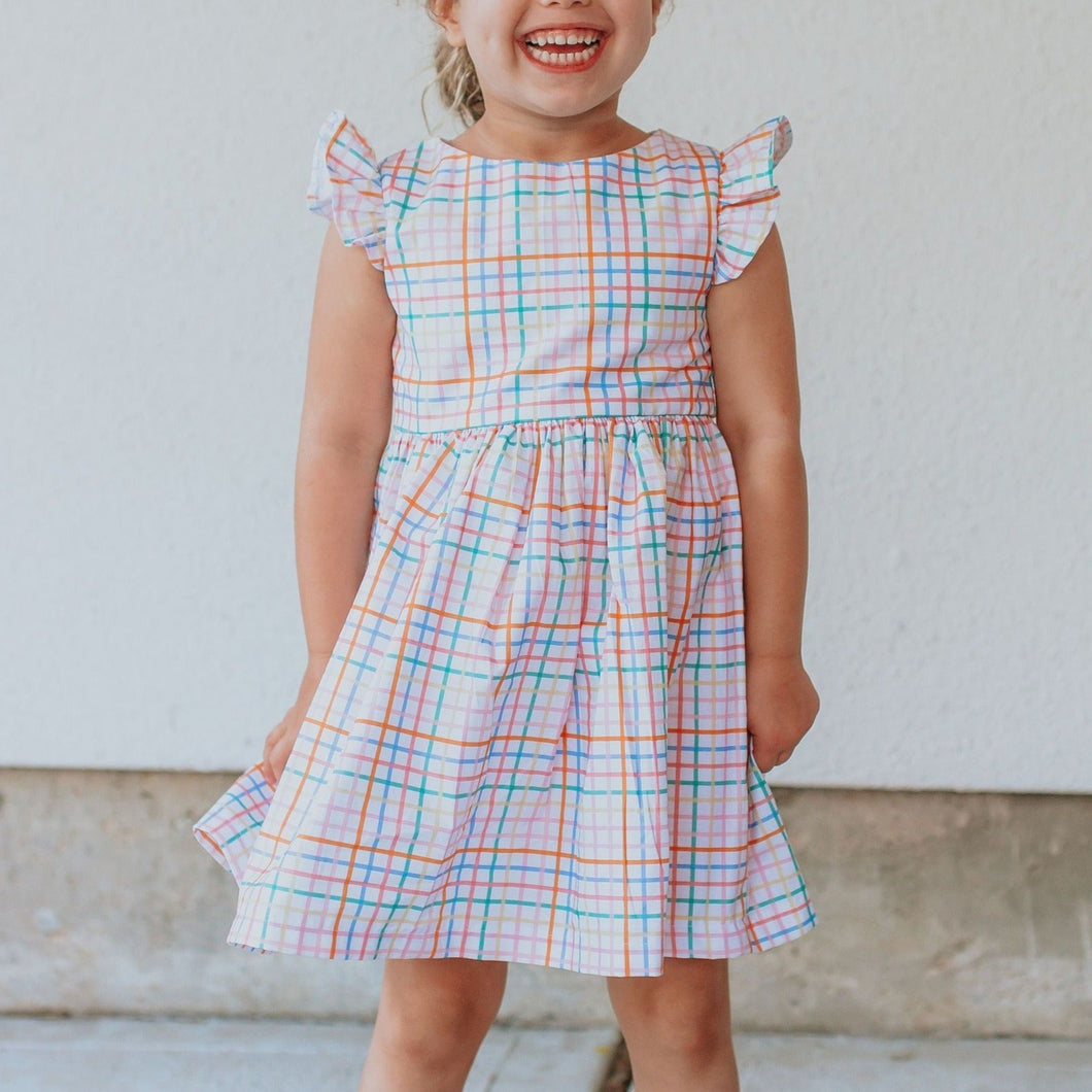 little girls rainbow dress