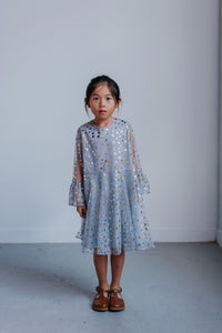 girls gray tulle dress