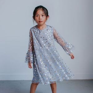 gray tulle dress little girls