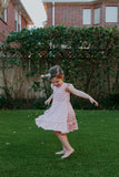 pink twirly rainbow dress