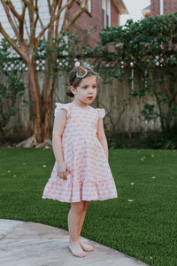 pink rainbow sherbert dress