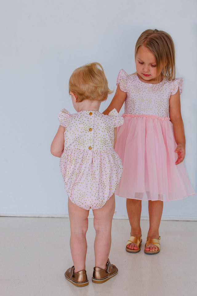 pink and gold birthday party outfits