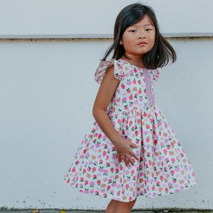 little girls apple print dress