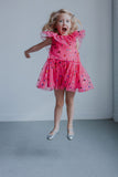little girls pink tulle special occasion dress
