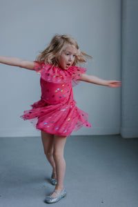 little girls pink party dress