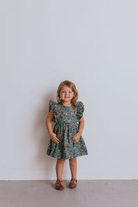 little girls floral boho dress