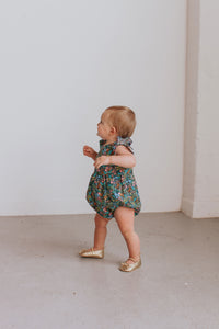 infant girls floral bubble romper