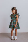little girls navy floral dress