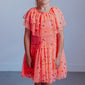 Aurelia Coral Confetti Party Dress