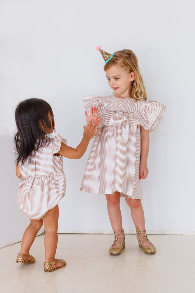 little girls rose gold dress