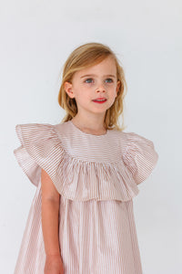 little kids ruffle gold dress