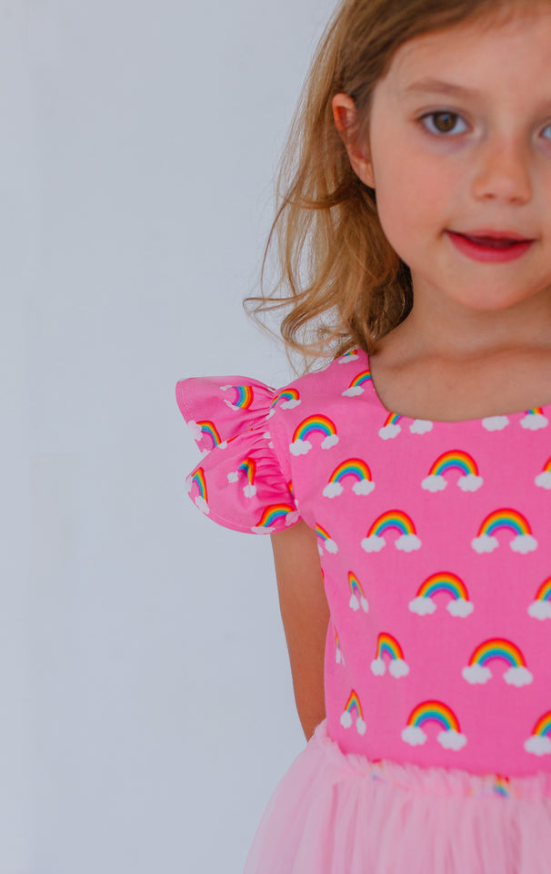 rainbow birthday party dress
