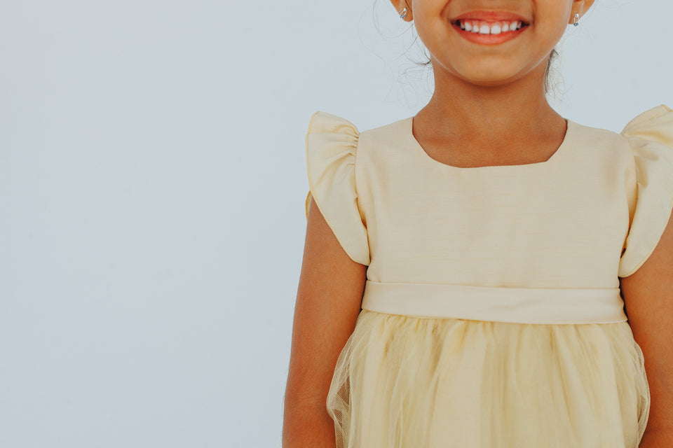 yellow flower girl dresses