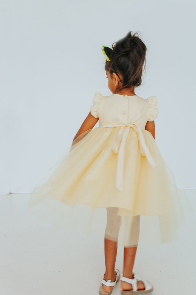 yellow tulle special occasion dress