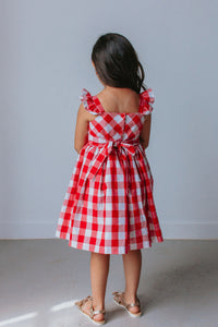 little girls red plaid dress