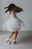 little girls white flower girl dress