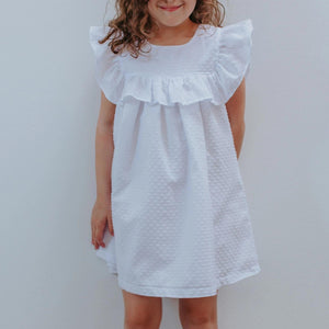 little girls white cotton dresses