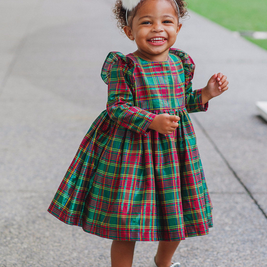 red green christmas dress