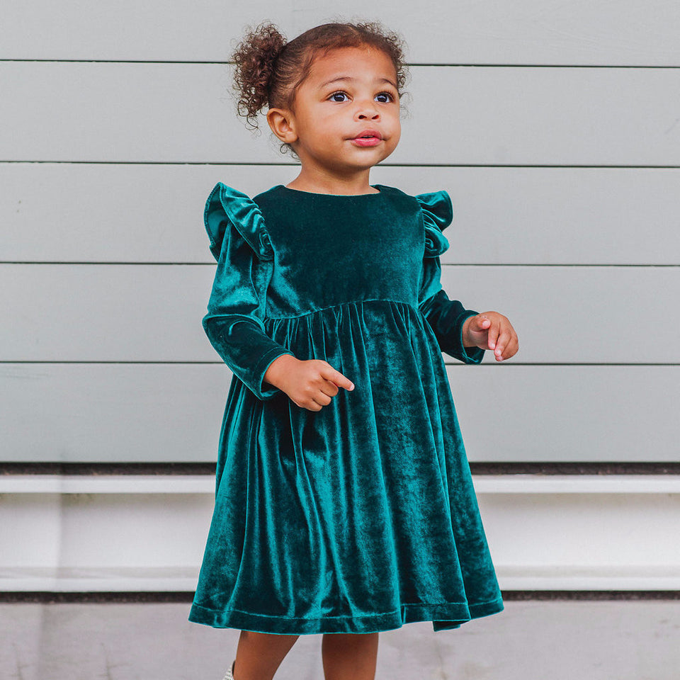velvet-dress-for-toddler-girls-worn-by-african-american-model-excited-for-the-holidays