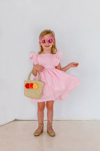 kids pink party dress