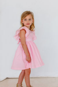 girls pink birthday party dress