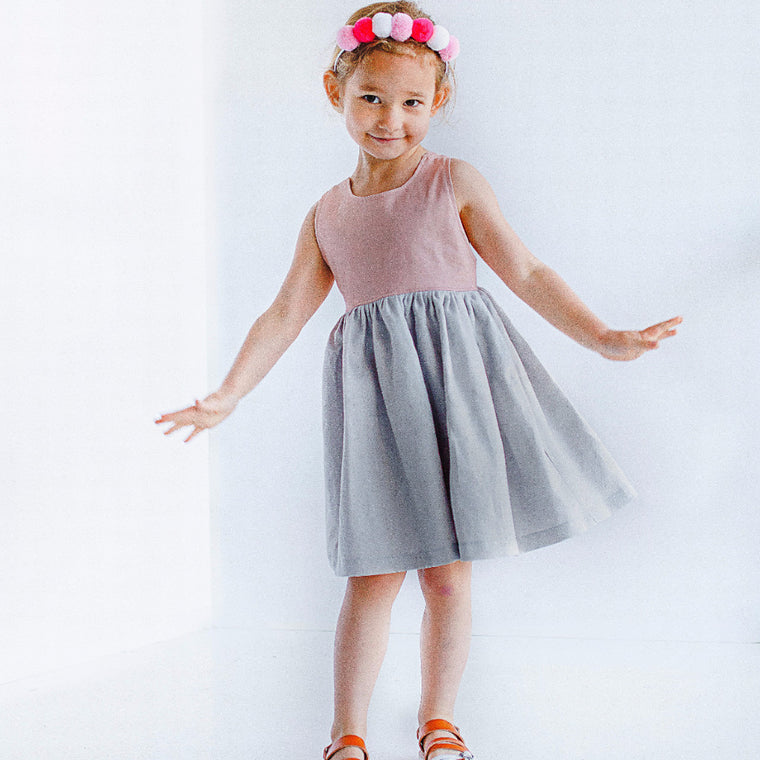 girls boho linen dress