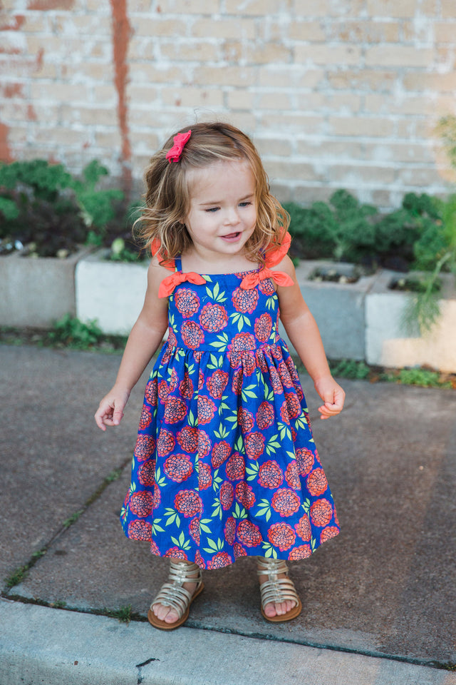 Josie Floral Print Dress with Bows