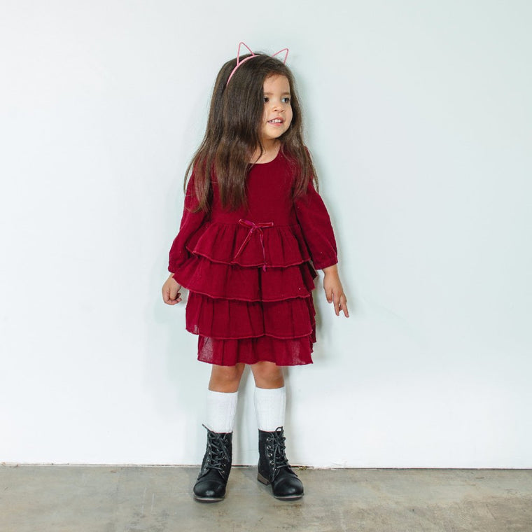girls maroon dress
