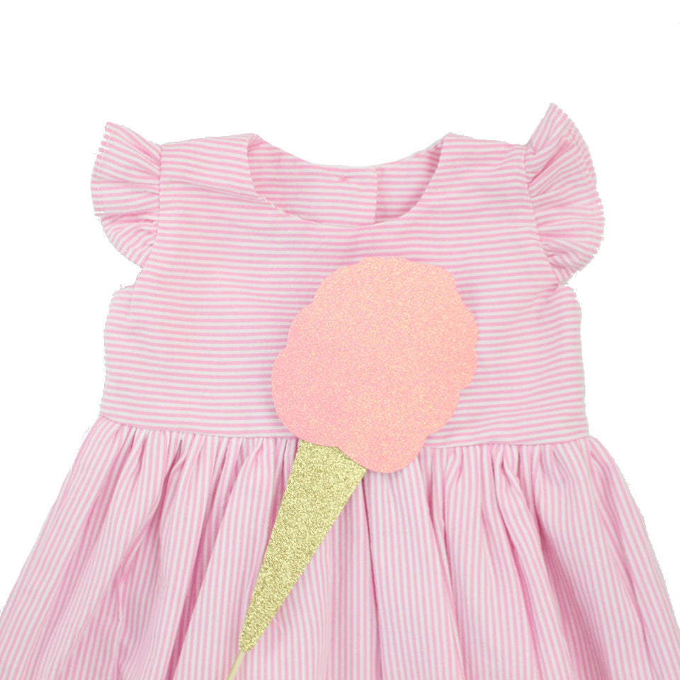 pink seersucker dresses for kids