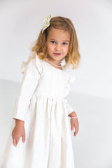 white dress kids