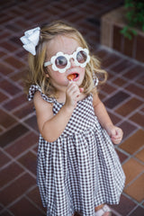 brown gingham dress toddler