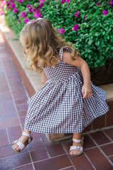 gingham dress toddler brown