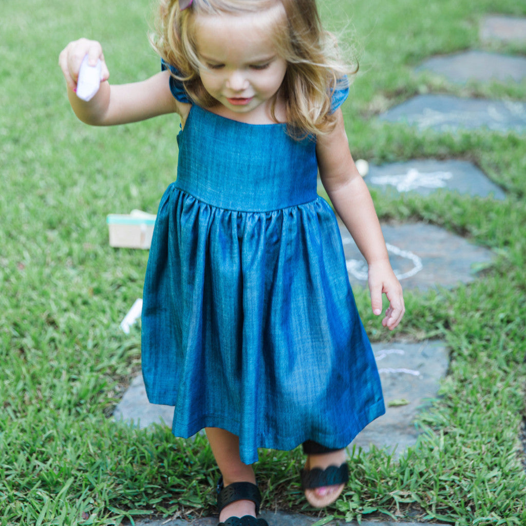 chambray dress toddler