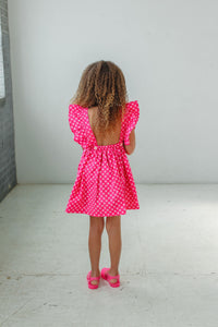 little girls dress with cool back