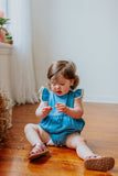 first birthday chambray cake smash romper