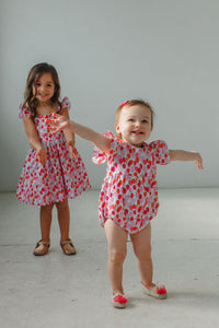 little girls balloon print matching outfits