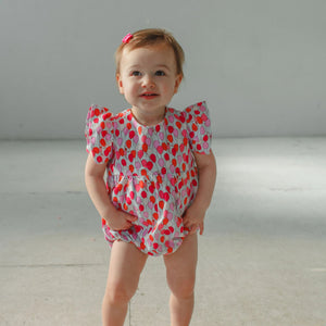balloon print bubble romper