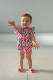 infant girls balloon print bubble romper for up theme party