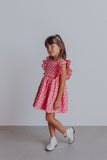 little girl's pink raindrop dress