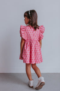 little girl's pink boho dress