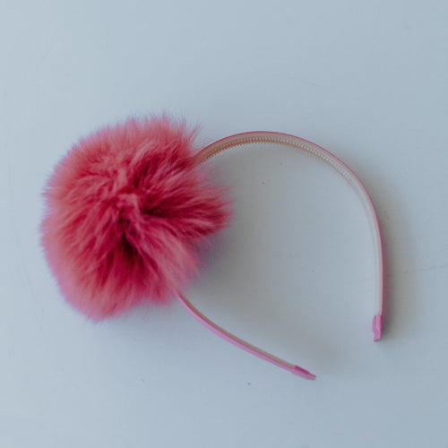Faux Fur Puff Headband