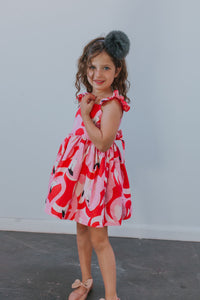 flamingo party dress for girls