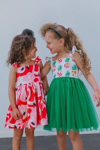 pineapple and flamingo dresses