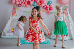 little girls flamingo party