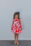 flamingo party dress for little girls